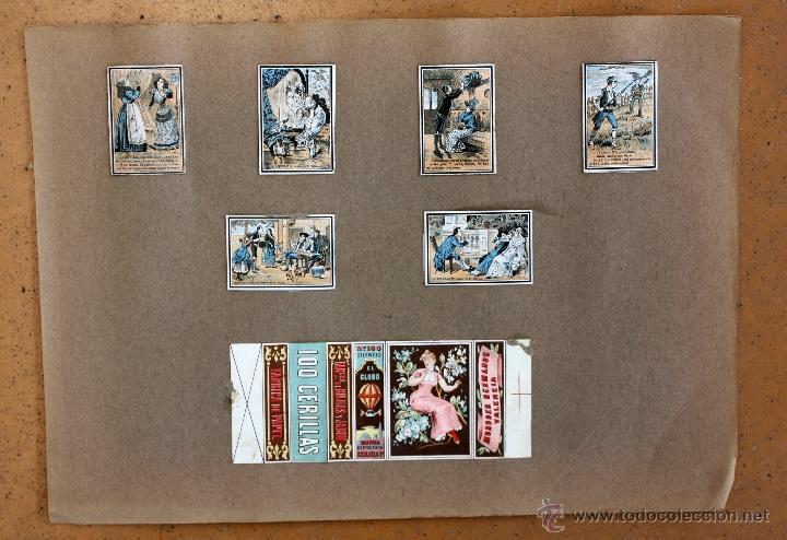Cajas de Cerillas: IMPORTANTE LOTE CON ALREDEDOR DE 400 CAJAS DE CERRILLAS Y FOTOTIPIAS DEL SIGLO XIX - Foto 30 - 50185373