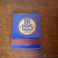 Cajas de Cerillas: CAJA DE CERILLAS, BANCO DE BILBAO 125 AÑOS - CAJAS CERILLA BANCOS. Lote 50242221