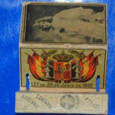 Cajas de Cerillas: ANTIGÜA CAJA CERILLAS SIGLO XIX. GREMIO DE FABRICANTES DE FOSFOROS DE ESPAÑA. Lote 50519530