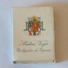 Cajas de Cerillas: CAJA CERILLAS MATIAS VEGA EMBAJADOR ESPAÑA VENEZUELA 1962 - 1970 FOSFORERA VENEZOLANA. Lote 50520071