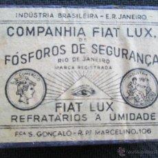 Cajas de Cerillas: BRASIL COMPAÑIA FIAT LUX NUEVA CON SU PRECINTO SIN ABRIR VEAN FOTOGRAFIAS. Lote 50873777