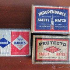 Cajas de Cerillas: 3 DE AMERICA U.S.A,. Lote 50961064