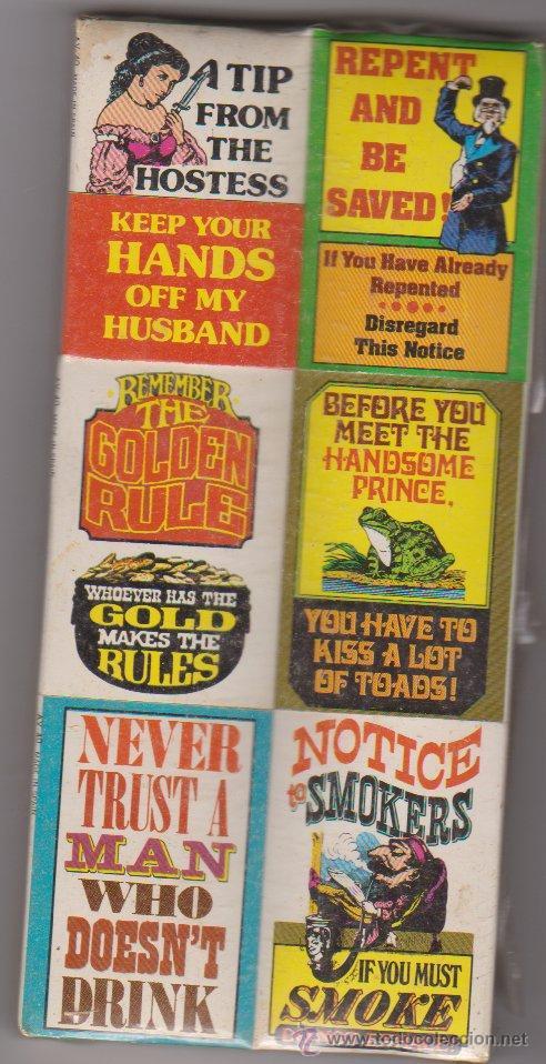 ESTUCHE DE 6 CAJAS DE CERILLAS INGLESAS (Coleccionismo - Objetos para Fumar - Cajas de Cerillas)