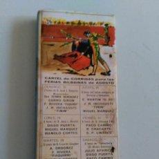 Cajas de Cerillas: CERILLAS CARTEL DE CORRIDAS DE TOROS FERIAS BILBAINAS DE AGOSTO. PUBLICIDAD DE RANCHO HIPICO. BILBAO. Lote 51454783