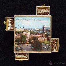 Cajas de Cerillas: CAJA ESTUCHE DE CERILLAS MÚLTIPLE SOBREMESA LONDON. AÑOS 60. Lote 51608084