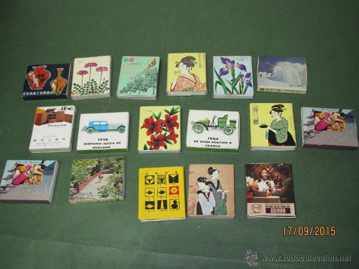 ANTIGUAS CAJAS DE CERILLAS JAPONESAS COMPLETAS (Coleccionismo - Objetos para Fumar - Cajas de Cerillas)