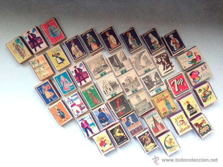 LOTE DE 50 CAJAS DE CERILLAS RARISIMO POR LA VARIEDAD Y POR SU CONSERVACION (Coleccionismo - Objetos para Fumar - Cajas de Cerillas)