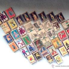 Cajas de Cerillas: LOTE DE 50 CAJAS DE CERILLAS RARISIMO POR LA VARIEDAD Y POR SU CONSERVACION. Lote 51789072