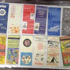 Cajas de Cerillas: LOTE DE 24 CAJAS DE CERRILLAS PUBLICITARIAS. VER FOTOS. EN PAPEL A DOBLE CARA.. Lote 52363921