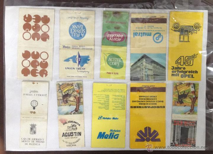 LOTE DE 21 CAJAS DE CERRILLAS PUBLICITARIAS. VER FOTOS. EN PAPEL A DOBLE CARA. (Coleccionismo - Objetos para Fumar - Cajas de Cerillas)