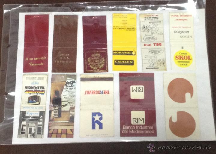 Cajas de Cerillas: LOTE DE 21 CAJAS DE CERRILLAS PUBLICITARIAS. VER FOTOS. EN PAPEL A DOBLE CARA. - Foto 2 - 55159162