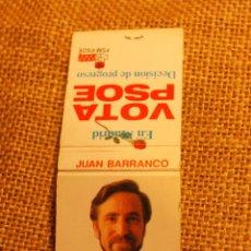 Cajas de Cerillas: CAJA DE CERILLAS ELECCIONES MUNICIPALES 1991. Lote 52525819