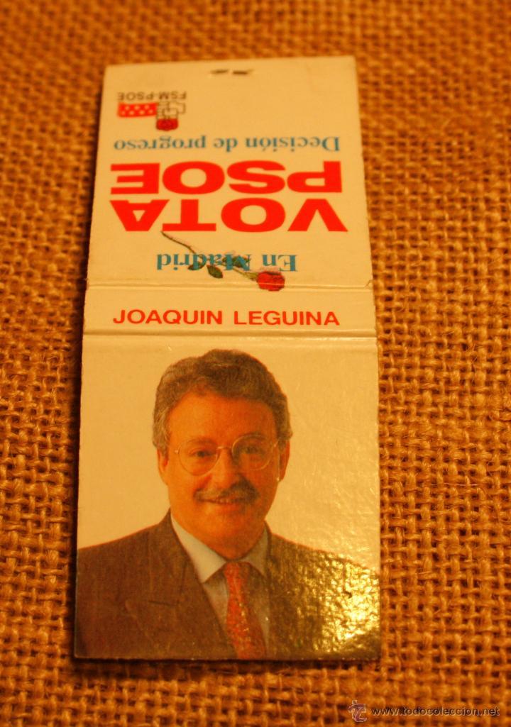 CAJA DE CERILLAS ELECCIONES AUTONOMICAS 1991 MADRID (Coleccionismo - Objetos para Fumar - Cajas de Cerillas)