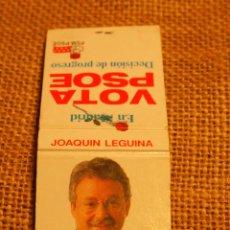 Cajas de Cerillas: CAJA DE CERILLAS ELECCIONES AUTONOMICAS 1991 MADRID. Lote 52526046