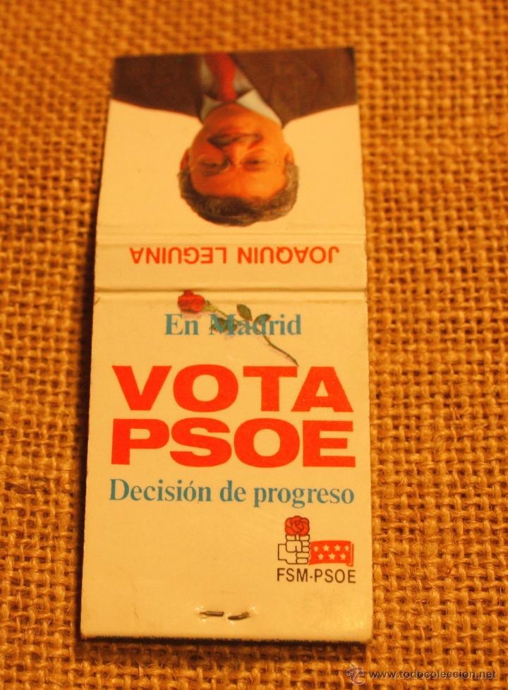 Cajas de Cerillas: Caja de cerillas elecciones autonomicas 1991 Madrid - Foto 2 - 52526046
