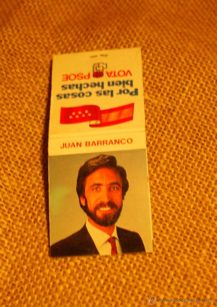 CAJA DE CERILLAS ELECCIONES MUNICIPALES MADRID 1987 (Coleccionismo - Objetos para Fumar - Cajas de Cerillas)