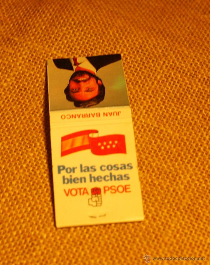 Cajas de Cerillas: Caja de cerillas elecciones municipales Madrid 1987 - Foto 2 - 52528546