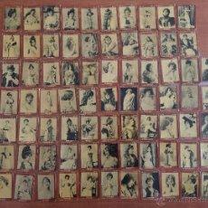 Cajas de Cerillas: COLECCION COMPLETA SERIE 5ª 75 PORTADAS CAJA DE CERILLAS SAMSOT. ACTRICES Y CUPLETISTAS. Lote 52916755