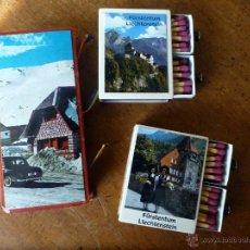 Cajas de Cerillas: 2 CAJAS CERIILAS DOBLES Y UNA TRIPLE. Lote 53033796