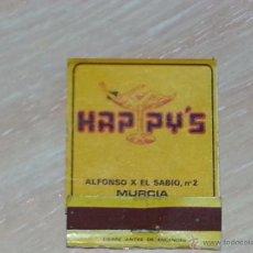 Cajas de Cerillas: CAJA CERILLAS / CARTERA CERILLAS - PUB HAPPY'S - MURCIA - AÑOS 80 - COMPLETA. Lote 53325377