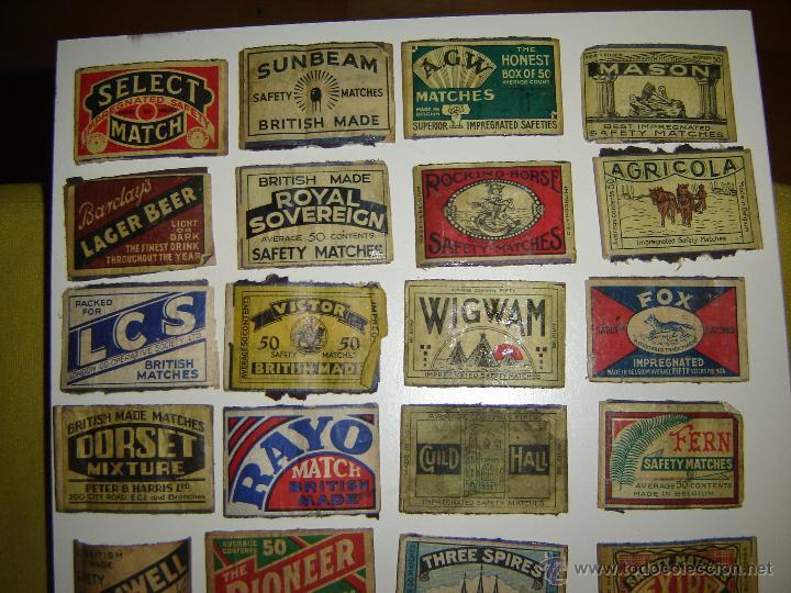 Cajas de Cerillas: Lote 54 frontales de cajas de cerillas. Matchbox label. - Foto 2 - 53400248