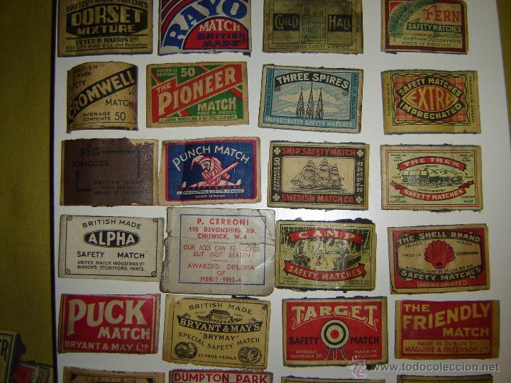 Cajas de Cerillas: Lote 54 frontales de cajas de cerillas. Matchbox label. - Foto 3 - 53400248