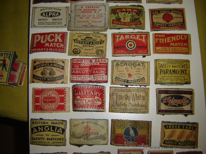 Cajas de Cerillas: Lote 54 frontales de cajas de cerillas. Matchbox label. - Foto 4 - 53400248