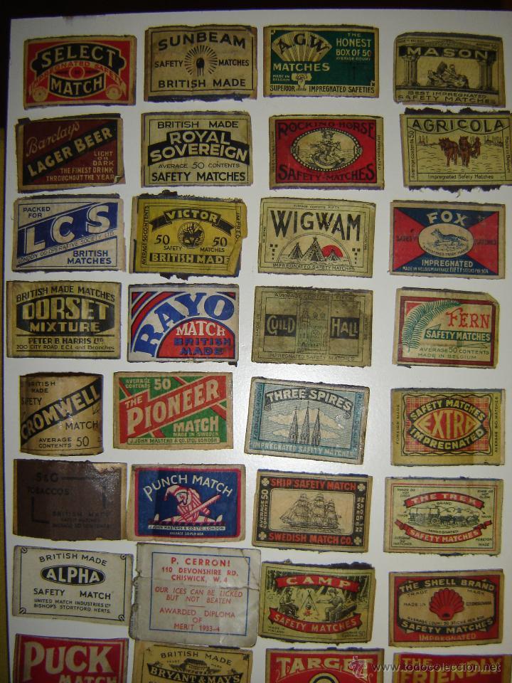 Cajas de Cerillas: Lote 54 frontales de cajas de cerillas. Matchbox label. - Foto 5 - 53400248