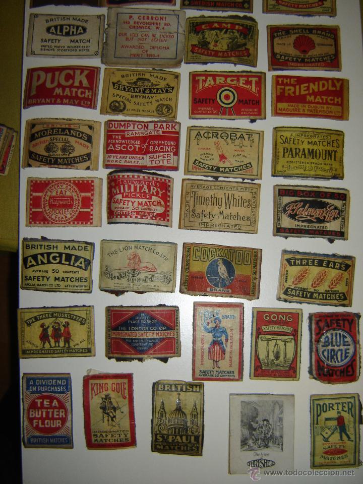 Cajas de Cerillas: Lote 54 frontales de cajas de cerillas. Matchbox label. - Foto 6 - 53400248