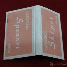 Cajas de Cerillas: CAJA CERILLAS / CARTERA CERILLAS - CAFETERÍAS SPENCER Y SKYPER - MURCIA - AÑOS 80 - COMPLETA. Lote 53526213