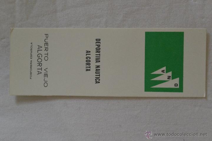 CAJA CERILLAS FOSFORERA ESPAÑOLA PUBLICIDAD DEPORTIVA NAUTICA ALGORA (Coleccionismo - Objetos para Fumar - Cajas de Cerillas)