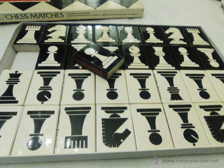 Cajas de Cerillas: JUEGO DE AJEDREZ PARA COLECCIONISTAS DE FOSFOROS DEL PIRINEO, S.A. - Foto 3 - 53678070