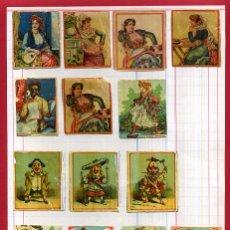 Cajas de Cerillas: LOTE 14 CROMOS CAJAS CERILLAS, SIGLO XIX , MUY ANTIGUOS ,TIPO FOTOTIPIAS , ORIGINAL, N10. Lote 53997772