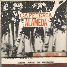 Cajas de Cerillas: ** CC15 - CAJA DE CERILLAS - CAFETERIA ALAMEDA - BILBAO - CON PUBLICIDAD FUNDADOR - PEDRO DOMECQ. Lote 54043673