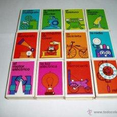 Cajas de Cerillas: COLECCIÓN COMPLETA DE CAJAS DE CERILLAS DE INVENTOS. Lote 54338146