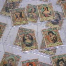 Cajas de Cerillas: COLECCION DE 72 FOTOTIPIAS CAJAS DE CERILLAS SERIE 23 CELEBRES PRINCESAS.FALTAN 21,47 Y 48. Lote 54488763