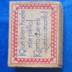 Cajas de Cerillas: RUMBO AMARILLO. FOSFORERA CANARIENSE. CAJA CERILLAS PUBLICITARIA. Lote 54514333
