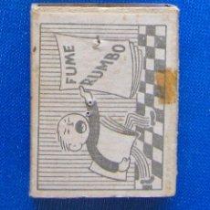 Cajas de Cerillas: FUME RUMBO. FOSFORERA CANARIENSE. CAJA CERILLAS PUBLICITARIA. Lote 54514470