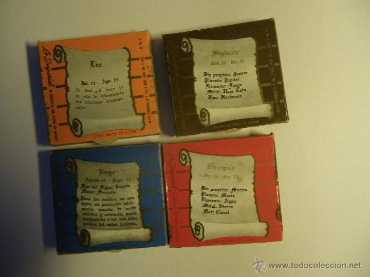 Cajas de Cerillas: 4 cajas de cerillas de Horóscopos, calidad IMPERIAL. Mexico. - Foto 3 - 54613764