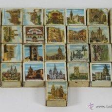 Cajas de Cerillas: LOTE DE 29 CAJAS DE CERILLAS DE MONUMENTOS. FOSFORERA ESPAÑOLA. 1960.. Lote 49430652