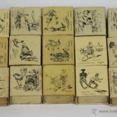 Cajas de Cerillas: LOTE DE 16 CAJAS DE CERILLAS. SERIE HUMOR. FOSFORERA ESPAÑOLA. 1960.. Lote 49442721