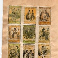 Cajas de Cerillas: 24 PANELES DE CAJAS DE CERILLAS-FOTOTIPIAS SIGLO XIX. Lote 54816931