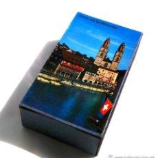 Cajas de Cerillas: CAJA DE CERILLA DE GRAN TAMAÑO - ZÜRICH MIT GROBMÜNSTER 12X7X3,5. Lote 55057674