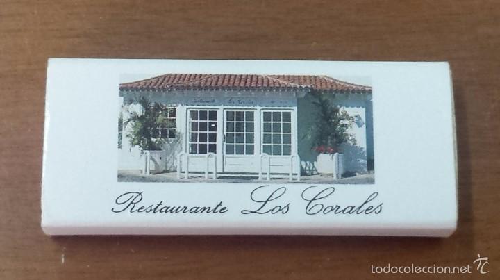 CAJA CERILLAS RESTAURANTE LOS CORALES-TENERIFE-ISLAS CANARIAS (Coleccionismo - Objetos para Fumar - Cajas de Cerillas)
