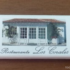 Cajas de Cerillas: CAJA CERILLAS RESTAURANTE LOS CORALES-TENERIFE-ISLAS CANARIAS. Lote 55932688