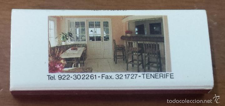 Cajas de Cerillas: CAJA CERILLAS RESTAURANTE LOS CORALES-TENERIFE-ISLAS CANARIAS - Foto 2 - 55932688