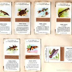 Cajas de Cerillas: FOSFORERA ESPAÑOLA SERIE FAUNA FLUVIAL. Lote 55938062