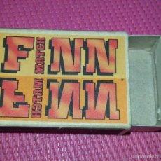 Cajas de Cerillas: ANTIGUA CAJA DE CERILLAS FINLANDESA FINN MATCH AÑOS 70 / 80. Lote 56271419