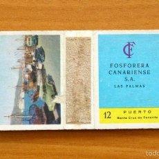 Cajas de Cerillas: CAJA DE CERILLAS - Nº 12 PUERTO, SANTA CRUZ DE TENERIFE - FOSFORERA CANARIENSE . Lote 56296253