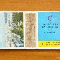Boîtes d'Allumettes: CAJA DE CERILLAS - Nº 14 VISTA PARCIAL DE LAS PALMAS - FOSFORERA CANARIENSE . Lote 56296411